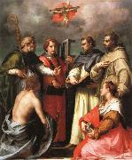 Andrea del Sarto The Debate over the Trinity oil painting reproduction